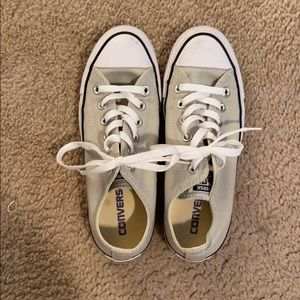 Olive green/gray converse